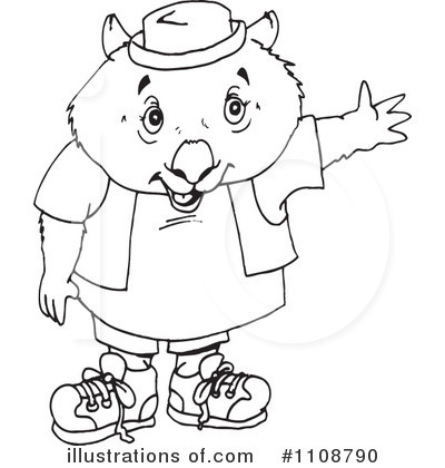 Wombat Clipart #1108790 by Dennis Holmes Designs