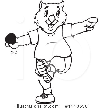 Shot Put Clipart #1110536 by Dennis Holmes Designs