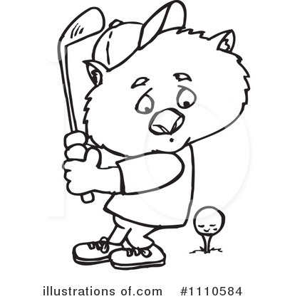Wombat Clipart #1110584 by Dennis Holmes Designs
