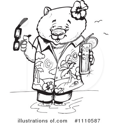Wombat Clipart #1110587 by Dennis Holmes Designs