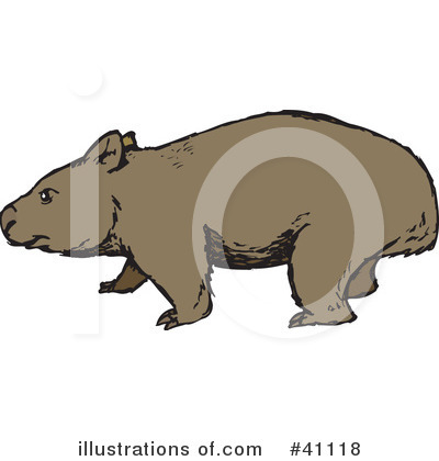 Wombat Clipart #41118 by Dennis Holmes Designs