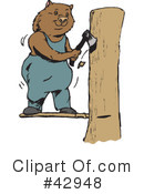 Royalty-Free (RF) wombat Clipart Illustration #42948