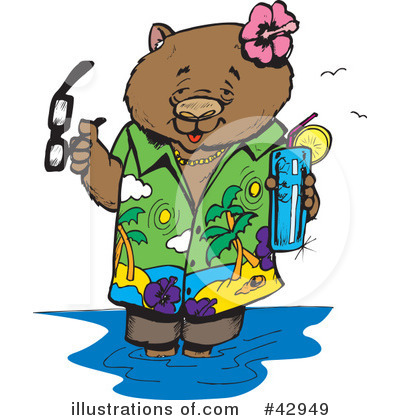 Royalty-Free (RF) Wombat Clipart Illustration by Dennis Holmes Designs - Stock Sample #42949