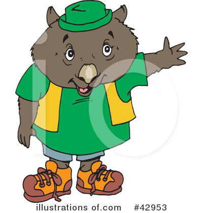 Wombat Clipart #42953 by Dennis Holmes Designs