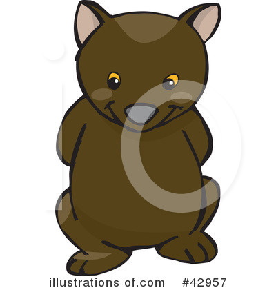 Wombat Clipart #42957 by Dennis Holmes Designs
