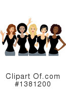 Women Clipart #1381200 by BNP Design Studio