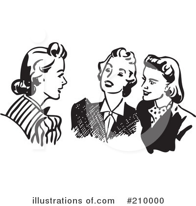 Royalty-Free (RF) Women Clipart Illustration by BestVector - Stock Sample #210000