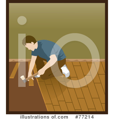 Royalty-Free (RF) Wood Flooring Clipart Illustration by Rosie Piter - Stock Sample #77214