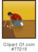 Royalty-Free (RF) wood flooring Clipart Illustration #77215