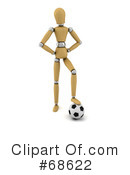 Royalty-Free (RF) Wood Mannequin Clipart Illustration #68622