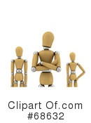 Royalty-Free (RF) Wood Mannequin Clipart Illustration #68632