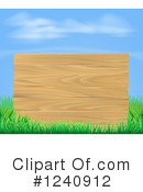 Wood Sign Clipart #1240912 by AtStockIllustration
