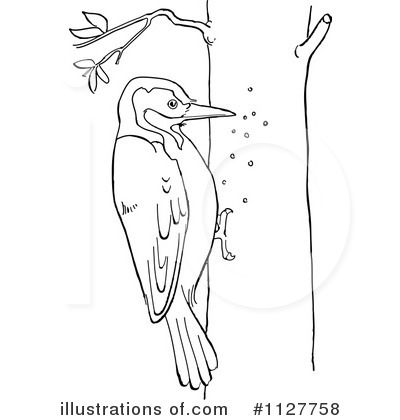 Royalty-Free (RF) Woodpecker Clipart Illustration by Picsburg - Stock Sample #1127758