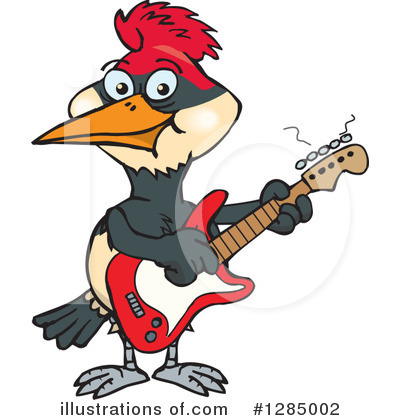 Woodpecker Clipart #1285002 by Dennis Holmes Designs
