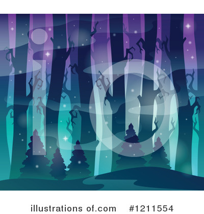Northern Lights Clipart #1211554 by visekart