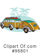 Royalty-Free (RF) Woody Car Clipart Illustration #96801