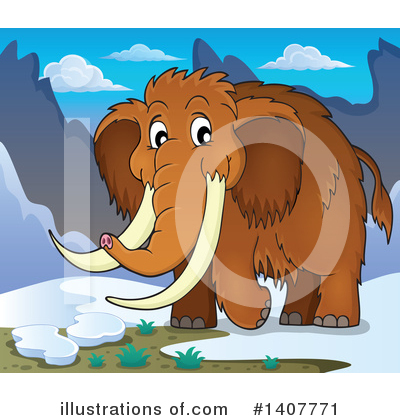 Woolly Mammoth Clipart #1407771 by visekart