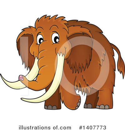 Woolly Mammoth Clipart #1407773 by visekart