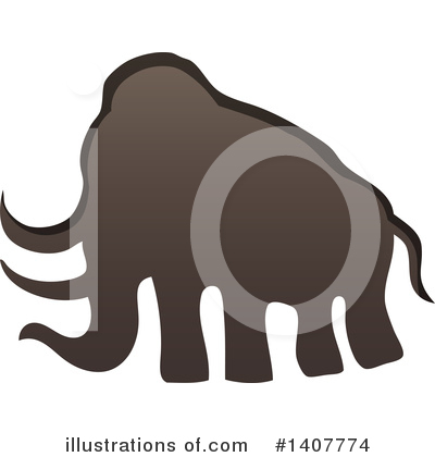 Woolly Mammoth Clipart #1407774 by visekart