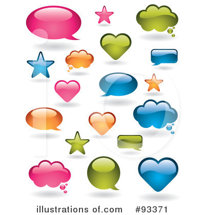 Royalty-Free (RF) Word Bubble Clipart Illustration by TA Images - Stock Sample #93371