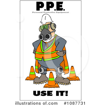 Royalty-Free (RF) Work Safety Clipart Illustration by djart - Stock Sample #1087731