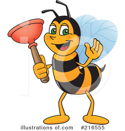 Worker Bee Character Clipart #216555 by Toons4Biz