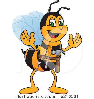 Worker Bee Character Clipart #216561 by Toons4Biz