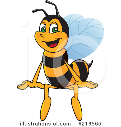 Worker Bee Character Clipart #216565 by Toons4Biz