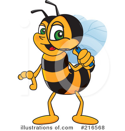 Worker Bee Character Clipart #216568 by Toons4Biz
