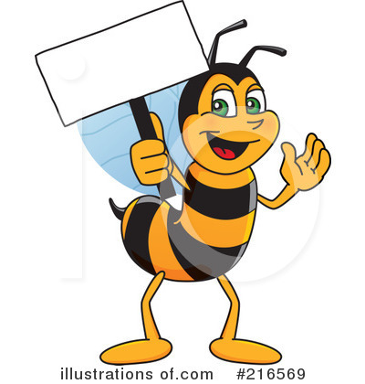 Worker Bee Character Clipart #216569 by Toons4Biz