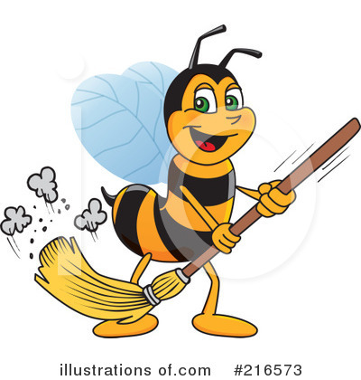 Worker Bee Character Clipart #216573 by Toons4Biz