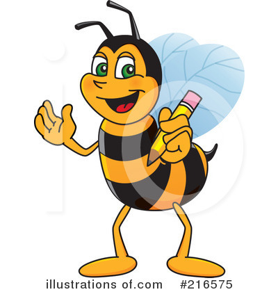 Worker Bee Character Clipart #216575 by Toons4Biz