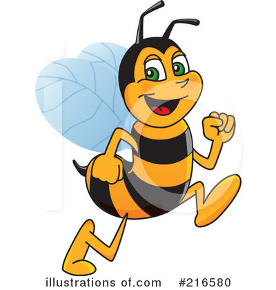 Worker Bee Character Clipart #216580 by Toons4Biz