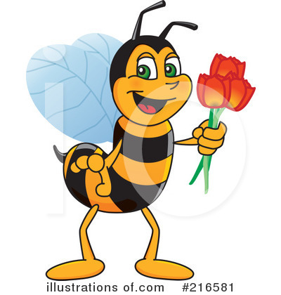 Worker Bee Character Clipart #216581 by Toons4Biz