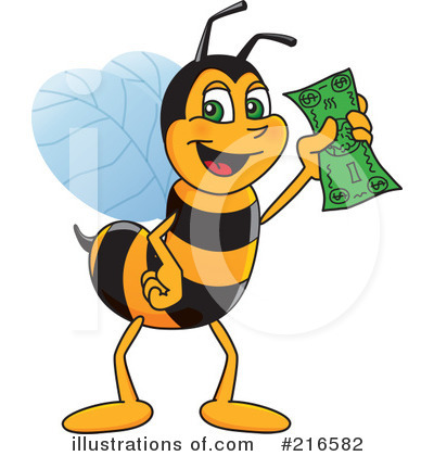 Worker Bee Character Clipart #216582 by Toons4Biz