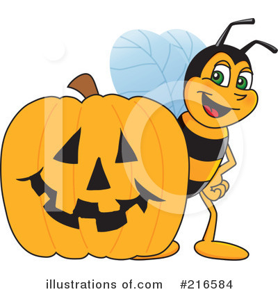 Royalty-Free (RF) Worker Bee Character Clipart Illustration by Toons4Biz - Stock Sample #216584