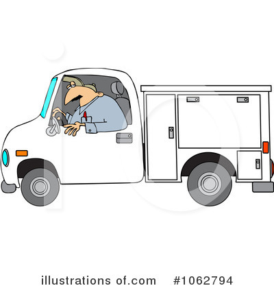 Royalty-Free (RF) Worker Clipart Illustration by djart - Stock Sample #1062794