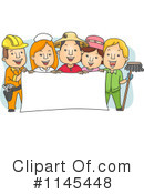 Royalty-Free (RF) Worker Clipart Illustration #1145448