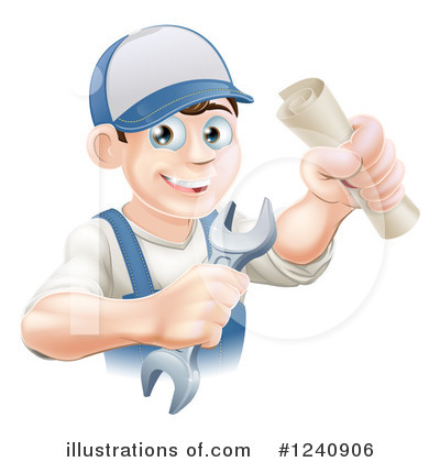 Plumber Clipart #1240906 by AtStockIllustration