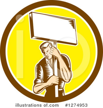 Protestor Clipart #1274953 by patrimonio