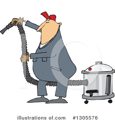Royalty-Free (RF) Worker Clipart Illustration by djart - Stock Sample #1305576