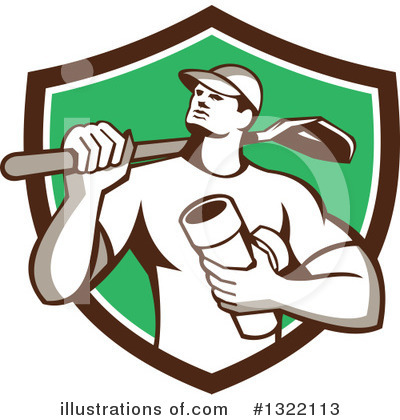 Builder Clipart #1322113 by patrimonio