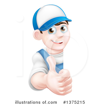 Royalty-Free (RF) Worker Clipart Illustration by AtStockIllustration - Stock Sample #1375215