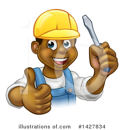 Electrician Clipart #1427834 by AtStockIllustration