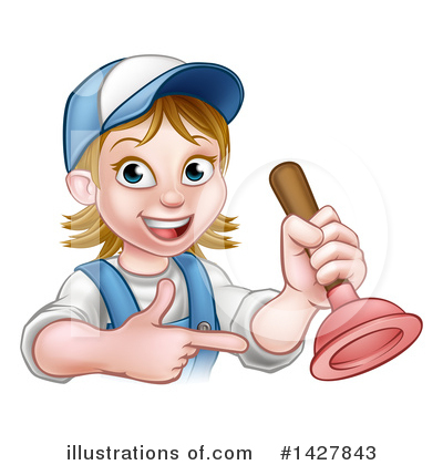 Royalty-Free (RF) Worker Clipart Illustration by AtStockIllustration - Stock Sample #1427843