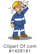 Worker Clipart #1428181 by David Rey