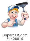 Royalty-Free (RF) Worker Clipart Illustration #1428819