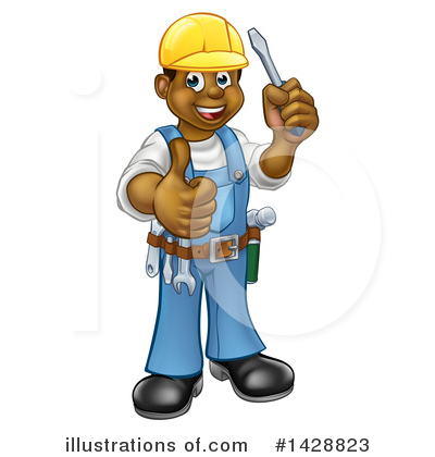 Electrician Clipart #1428823 by AtStockIllustration