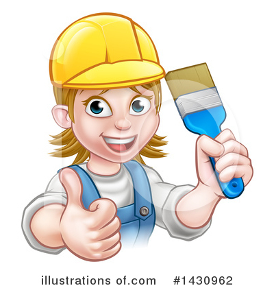 Painter Clipart #1430962 by AtStockIllustration