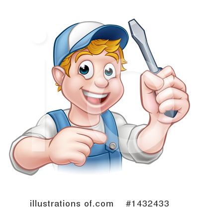 Electrician Clipart #1432433 by AtStockIllustration